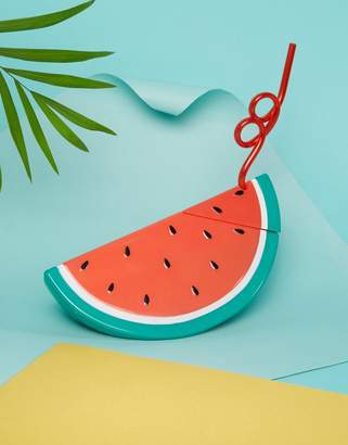 Sunnylife Watermelon Drink Holder with Straw $19 thestylecure.com