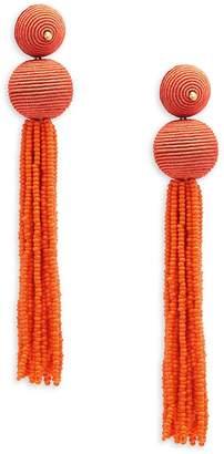Kenneth Jay Lane Women's Ball Tassle Drop Earrings
