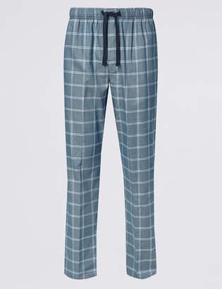 David Gandy For AutographMarks and Spencer Supima Cotton Checked Long Pyjama Bottoms
