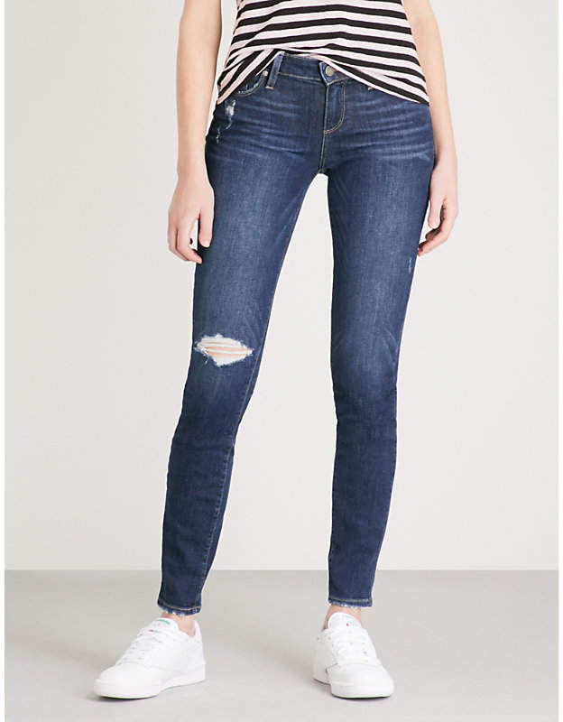 Verdugo distressed ultra-skinny mid-rise jeans