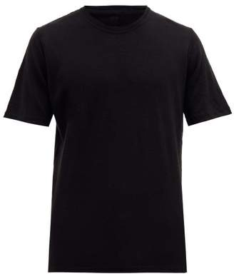 120% Lino Crew Neck Linen T Shirt - Mens - Black