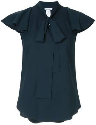 Oscar de la Renta flutter sleeve blouse