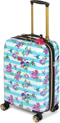 "Betsey Johnson 20"" Stripe Floral Hummingbird Upright Spinner"