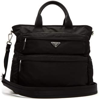 Prada Double-pocket nylon tote
