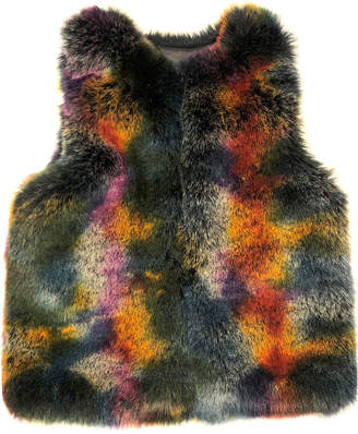 Laundry by Shelli Segal Mottled Faux-Fur Vest
