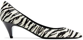 Saint Laurent Charlotte Zebra-print Calf Hair Pumps - Zebra print