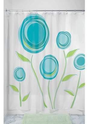 "InterDesign Marigold Fabric Shower Curtain, Standard 72"" x 72"", Blue/Green"