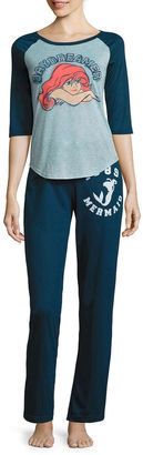 DISNEY Disney French Terry Pant Pajama Set-Juniors $24.99 thestylecure.com