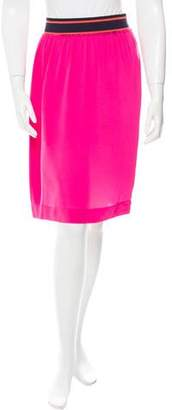 Sonia Rykiel Sonia by Paneled Knee-Length Skirt