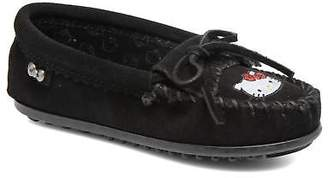 Minnetonka Kids's Hello Kitty Moc Rounded toe Loafers in Black