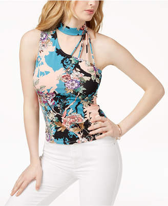GUESS Mick One-Shoulder Choker Top