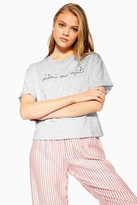 Topshop 'Follow Your Dreams' Pyjama T-Shirt