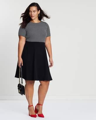 Spot Jacquard Dress