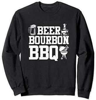Beer Bourbon BBQ Sweatshirt - BBQ Grillmaster Gift
