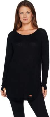 Peace Love World Sweater Knit Tunic with Tulip Hem
