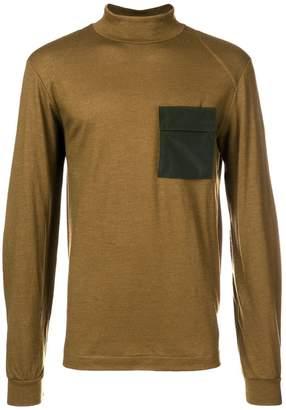 Oamc contrast turtle-neck sweater
