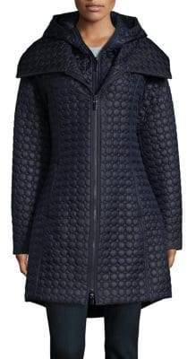 Dawn Levy Hooded Quilted Coat