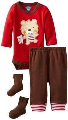 Bon Bebe Boy's 6-9 Months Teddy Bear 3-piece Shirt, Pants and Booties Set