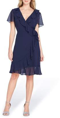 Tahari Swiss Dot Chiffon Dress