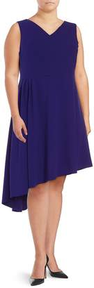Vince Camuto Women's Solid Asymmetric Dress