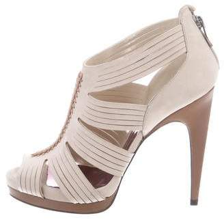 Barbara Bui Suede Caged Sandals w/ Tags