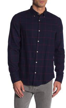 Original Penguin Windowpane Flannel Long Sleeve Heritage Slim Fit Shirt