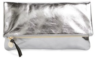 Clare V. 'Maison' Metallic Leather Foldover Clutch - Metallic $209 thestylecure.com