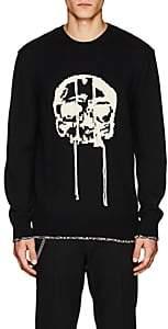 Alexander McQueen Men's Skull-Intarsia Wool Sweater-Black