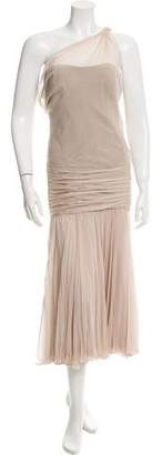 J. Mendel Silk Strapless Dress
