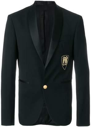 Pierre Balmain embroidered logo blazer