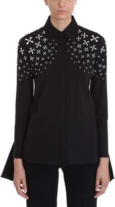 Neil Barrett Long Sleeve Black Cotton Poplin Shirt