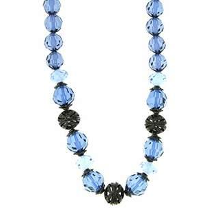 "1928 Jewelry ""Blue Bayou"" Jet Montana Beaded Adjustable Necklace"