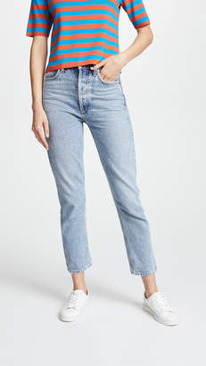 A Gold E AGOLDE Riley High Rise Cropped Jeans