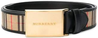 Burberry 1983 check belt