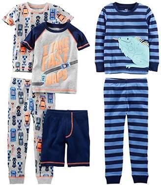 Carter's Simple Joys by Boys' Little Kid 6-Piece Snug Fit Cotton Pajama Set