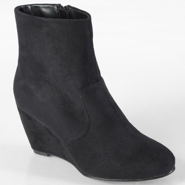 Journee Collection mandarin wedge ankle boots - women