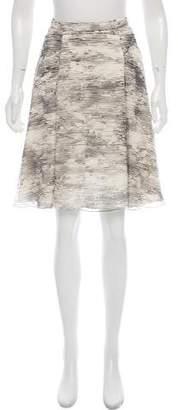 Jason Wu Printed A-Line Skirt