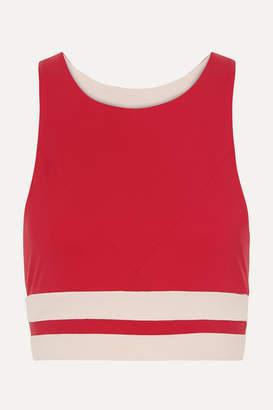 Vaara - Naomi Striped Stretch Sports Bra - Red