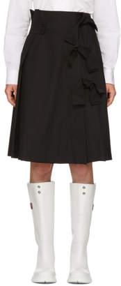 Roberts | Wood Black Pleated Multibow Skirt