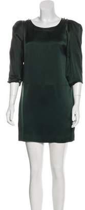 Chloé Silk Mini Dress green Chloé Silk Mini Dress