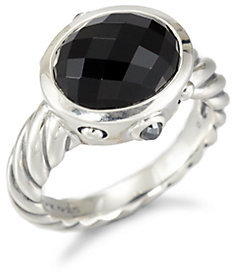 David Yurman Black Onyx & Sterling Silver Ring