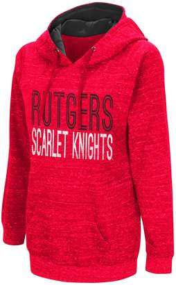 NCAA Women's Campus Heritage Rutgers Scarlet Knights Throw-Back Pullover Hoodie