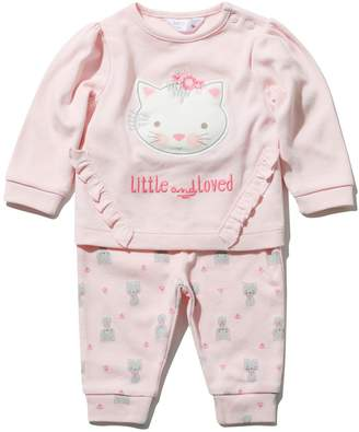 M&Co Cat frill top and joggers set