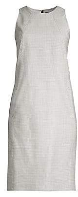 Polo Ralph Lauren Women's Check Sleeveless Wool-Blend Shift Dress