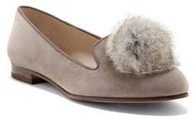 Louise et Cie Andres Rabbit Fur Puff Suede Flats