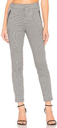 1 STATE Knit Puppytooth Zip Slim Leg Pant