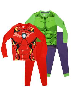 Marvel Boys' Avengers Pajamas 2 Pack