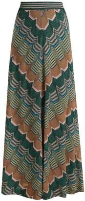 Missoni Geometric-knit flared skirt