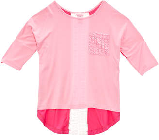 Design History Girls' Pink Hi-Lo Top