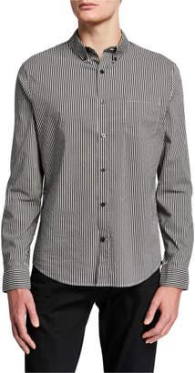 Vince Men's Bar Stripe Long Sleeve Sport Shirt
